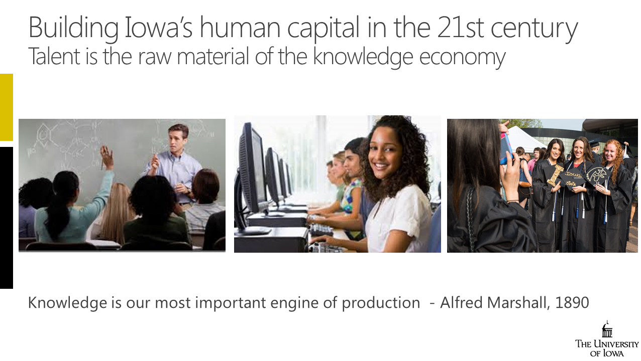 Building 21st Century Iowa Economy slide