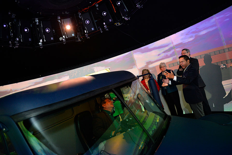 Dean Fisher at the National Advanced Driving Simulator