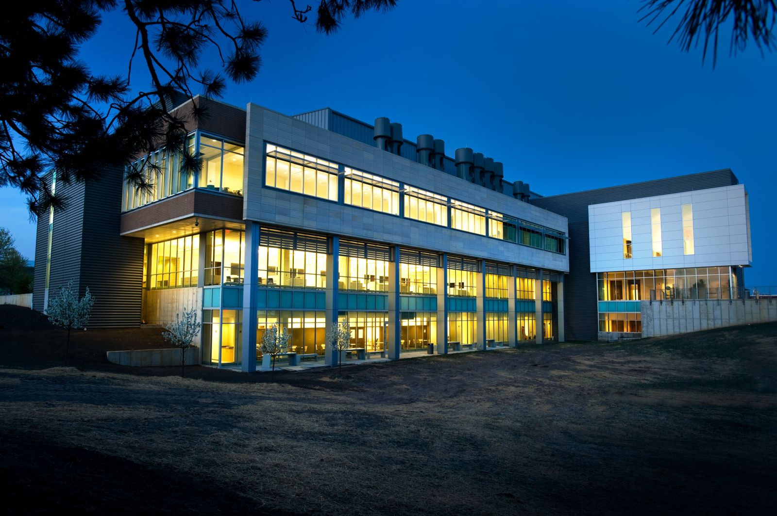 State Hygienic lab building at night