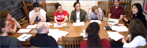 Students at a workshop