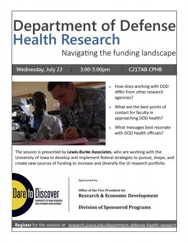 DOD Health Research session flyer