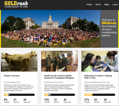 GOLDrush website