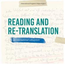 Reading and Re-Translation - an international colloquium