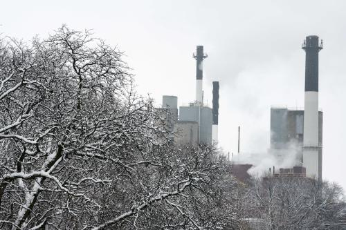 snowy power plant