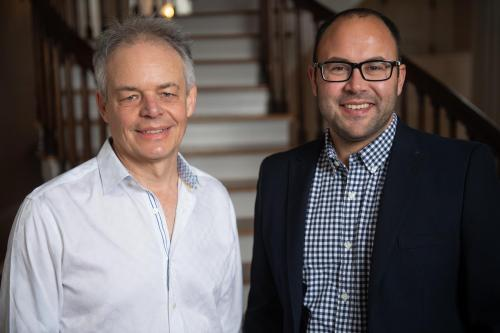 University of Iowa faculty David Stern (left) and Simon Balto, recipients of National Endowment for the Humanities (NEH) grants for the 2020-21 awards cycle.