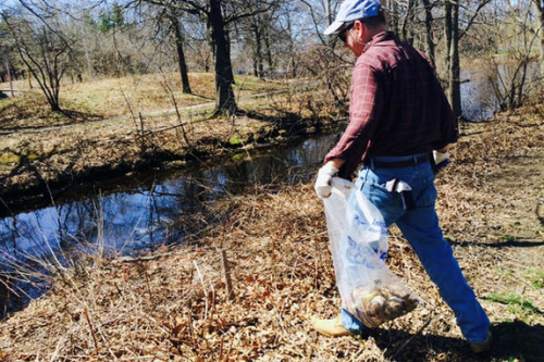 A river cleanup
