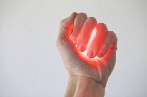 Glowing hand image