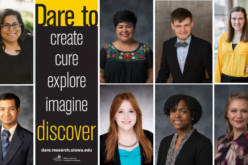 Dare to Discover banner students